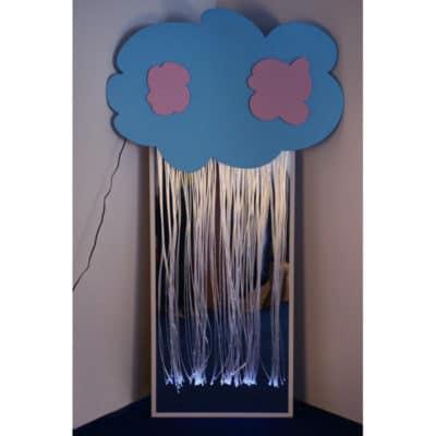 Зеркальное панно с фиброоптическими нитями «Разноцветный дождь»
