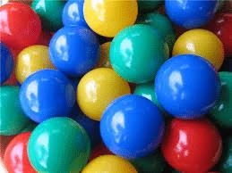 Шарики для сухого бассейна ПВХ цветные