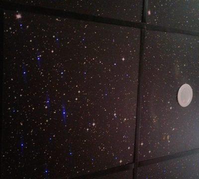 """Подвесной потолок """"Звездное небо"""" на базе плитки """"Армстронг"""""""