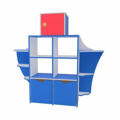 Стеллаж для детского сада Кораблик