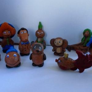 Набор фигурок сказочных персонажей для сказкотерапии и песочной терапии