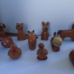 Набор фигурок домашних животных для сказкотерапии и песочной терапии