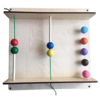 Тактильно-развивающая панель «Магнитные шарики»
